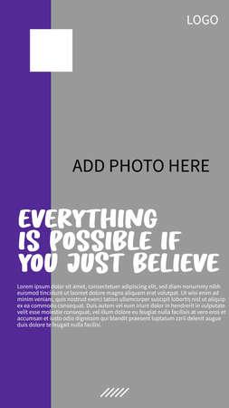 simple social media story design Vector Illustratie