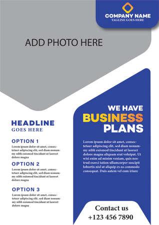 business brochure flyer template design
