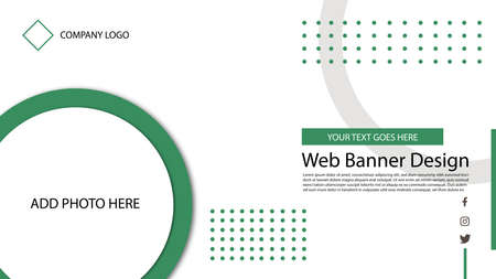 simple and creative web banner template design