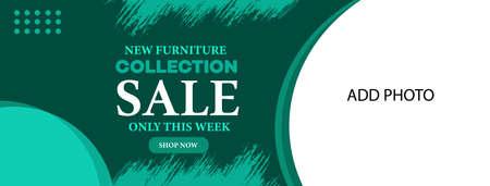 furniture sale web banner template design Иллюстрация