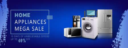 home appliances social media web banner