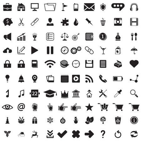 set of icons design Иллюстрация
