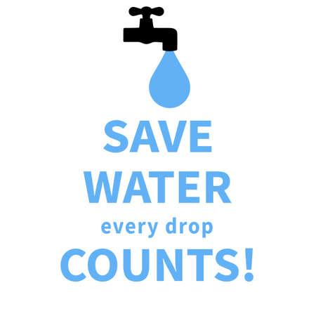 save water social media post web banner poster flyer template design Vektoros illusztráció