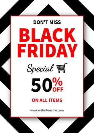 don't miss black friday sale poster flyer social media post template design