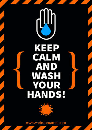 keep calm and wash your hands - covid 19 poster flyer social media post template design