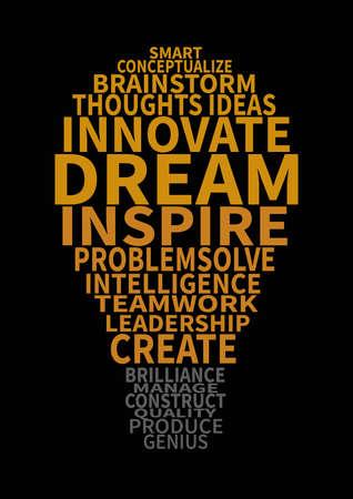 creative light bulb words poster flyer social media post template design