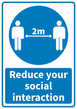 reduce your social interaction - covid 19 poster flyer or social media template design