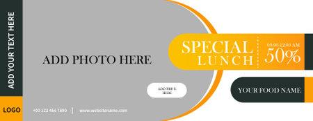 food restaurant web banner vector  template design