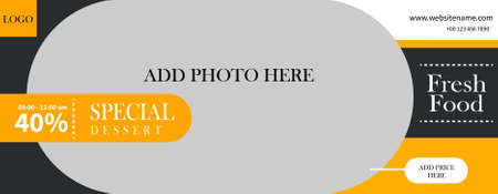 simple and creative food restaurant web banner template design Иллюстрация