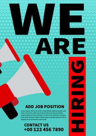 we are hiring poster flyer social media post web banner template design