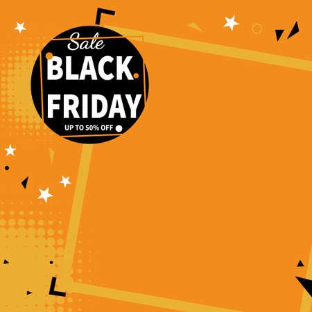 creative black friday web banner social media post template design
