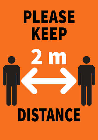 keep distance covid 19 poster flyer social media post template design
