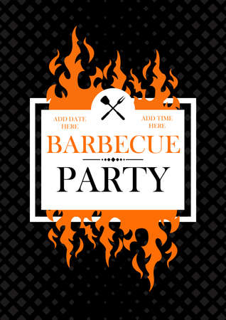 barbecue poster flyer social media post template design