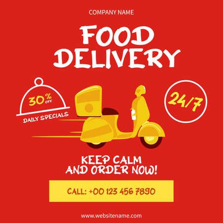 food delivery social media post flyer web banner template design
