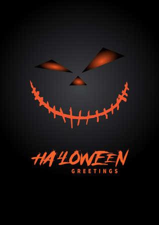 halloween greetings poster, flyer social media post template design