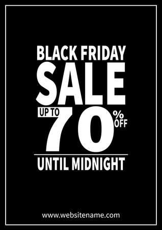 black friday big sale poster flyer social media post template design