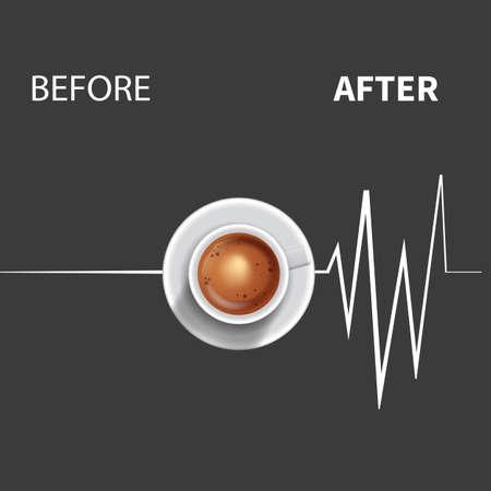 coffee pulse social media post web banner template design