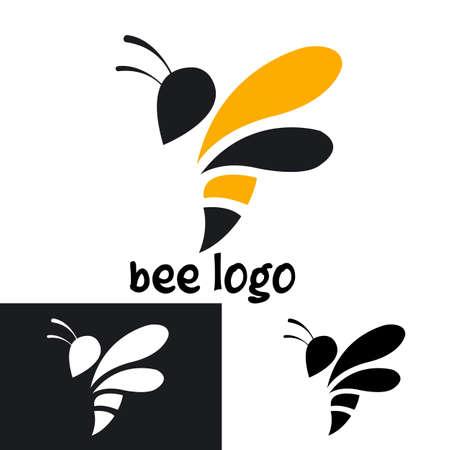 creative bee logo template design