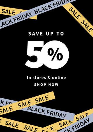 black friday big sale poster social media post flyer template design