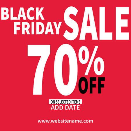 black friday social media flyer web banner template design Иллюстрация