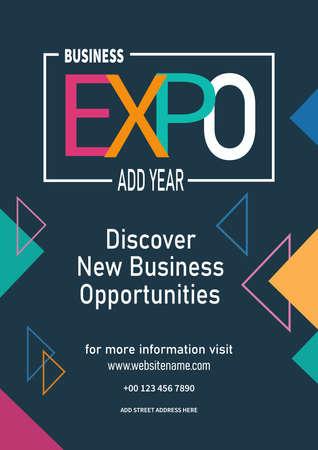 business expo poster flyer social media post template design