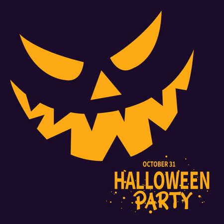 halloween party flyer social media post template design