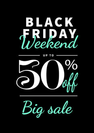 big sale black friday poster flyer social media post template design