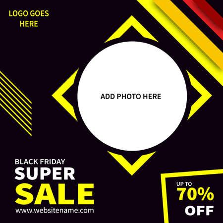 black friday super sale social media post web banner flyer template design