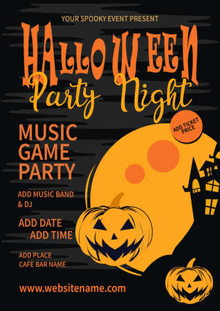 halloween spooky party poster flyer social media post template design