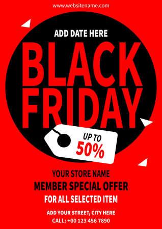 black friday flyer social media post poster template design