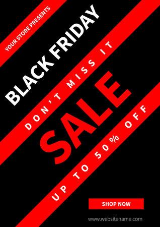 black friday big discount sale poster flyer social media post template design