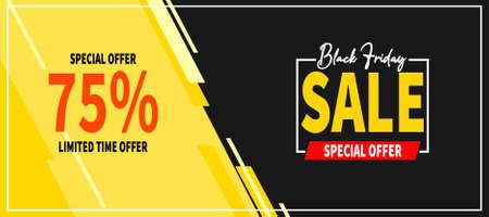 black friday big sale web banner social media post template design