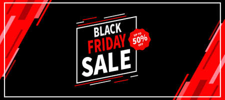 black friday big sale social media post web banner template design Иллюстрация
