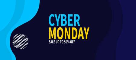 cyber monday discount sale web banner template design