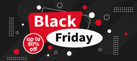 black friday big discount sale web banner template design