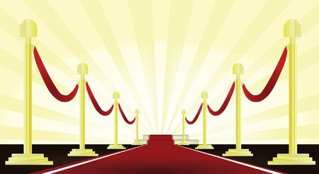 Red carpet Vettoriali