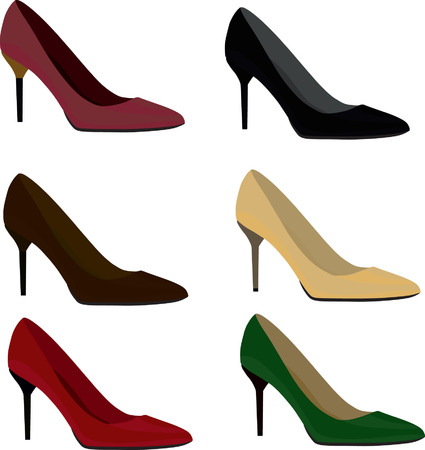 woman shoes: Woman shoes Illustration