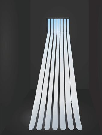 prison: Prison window Illustration