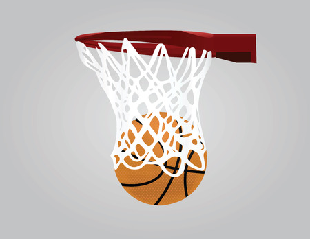 playoff: Basketball hoop vector