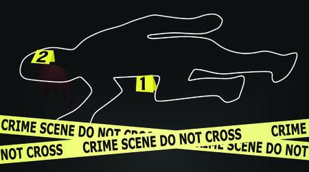 flowed: Crime scene vector Illustration