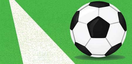 penalty: Soccer ball vector