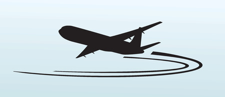 Airplane silhouette icon vector