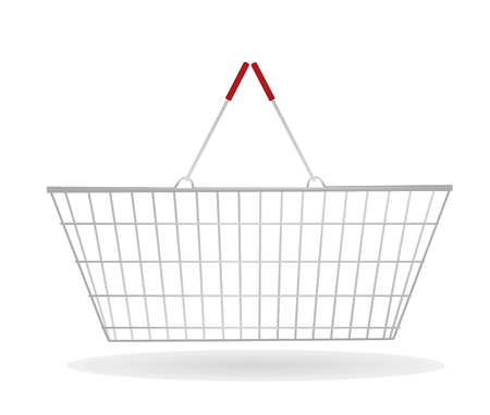 pushcart: Shopping basket vector