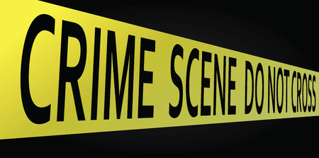 Crime scene do not cross tape. Vector illustration. Illustration