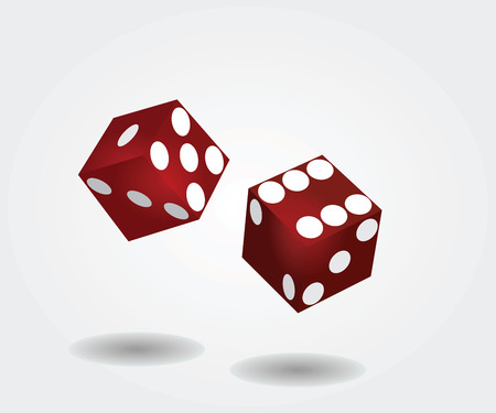 Two dices rolling Illustration