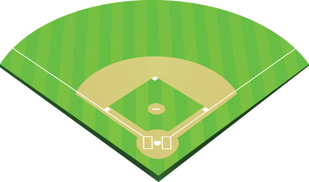 Baseball field Vector illustration.
