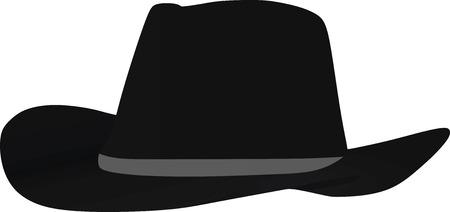 Black hat vector illustration Illustration