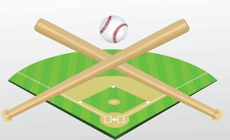 Baseball field vector Ilustração