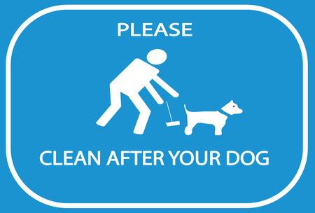 Maak alsjeblieft schoon na uw hondsein