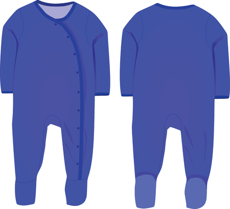 sleeve: Baby boy sleep suit vector Illustration